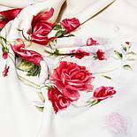 Павлопосадский платок Розы на снегу 1227-1 (146х146 см), фото 2