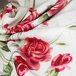 Павлопосадский платок Розы на снегу 1227-1 (146х146 см), фото 3