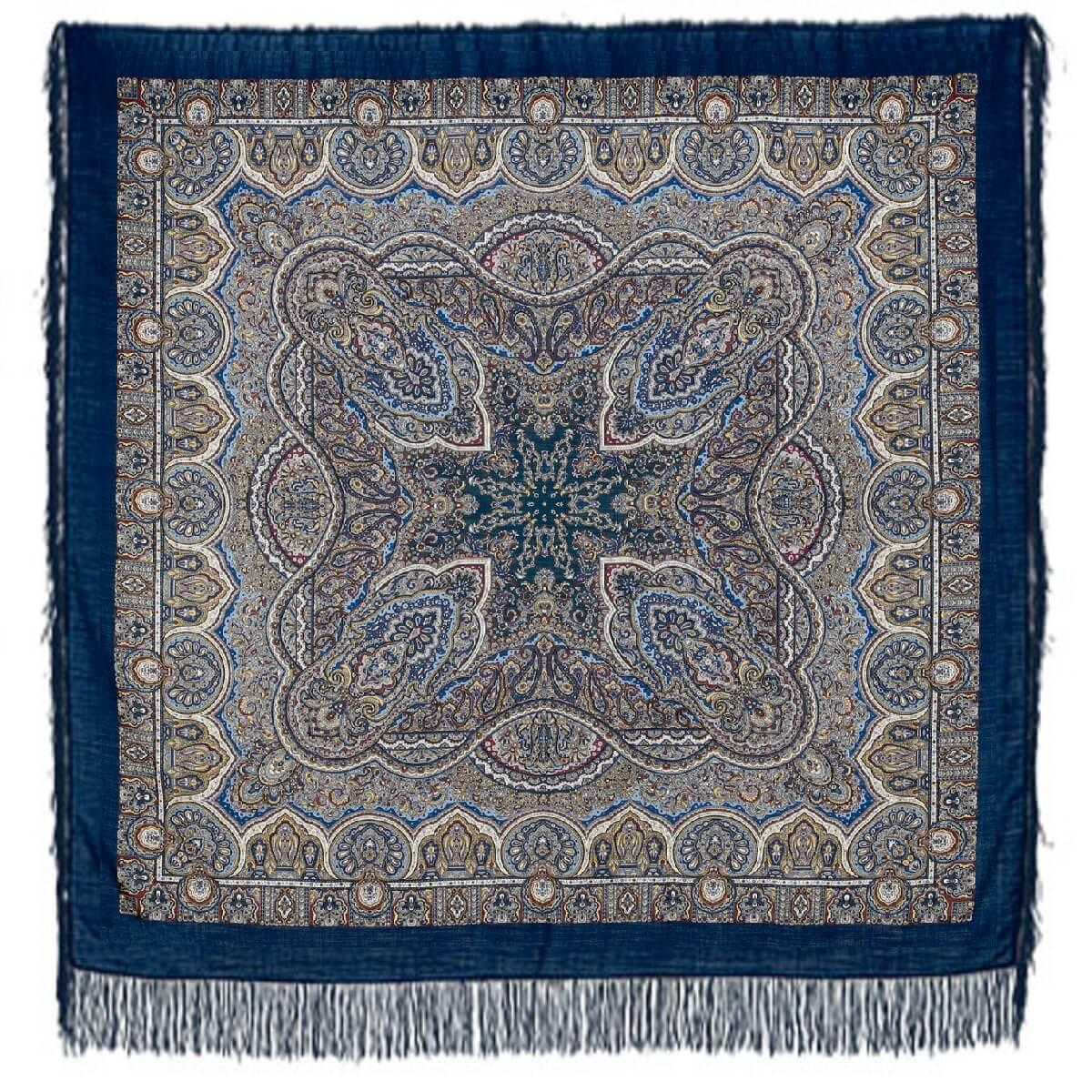 Павлопосадский платок Ларец самоцветный 762-5 (146х146 см)