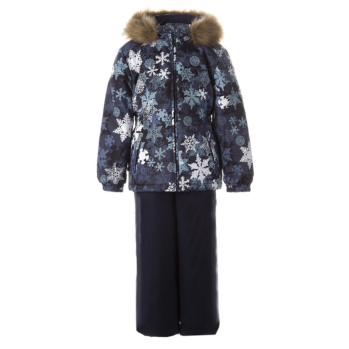 Комплект для девочек Huppa WONDER,  тёмно-синий с принтом/тёмно-синий