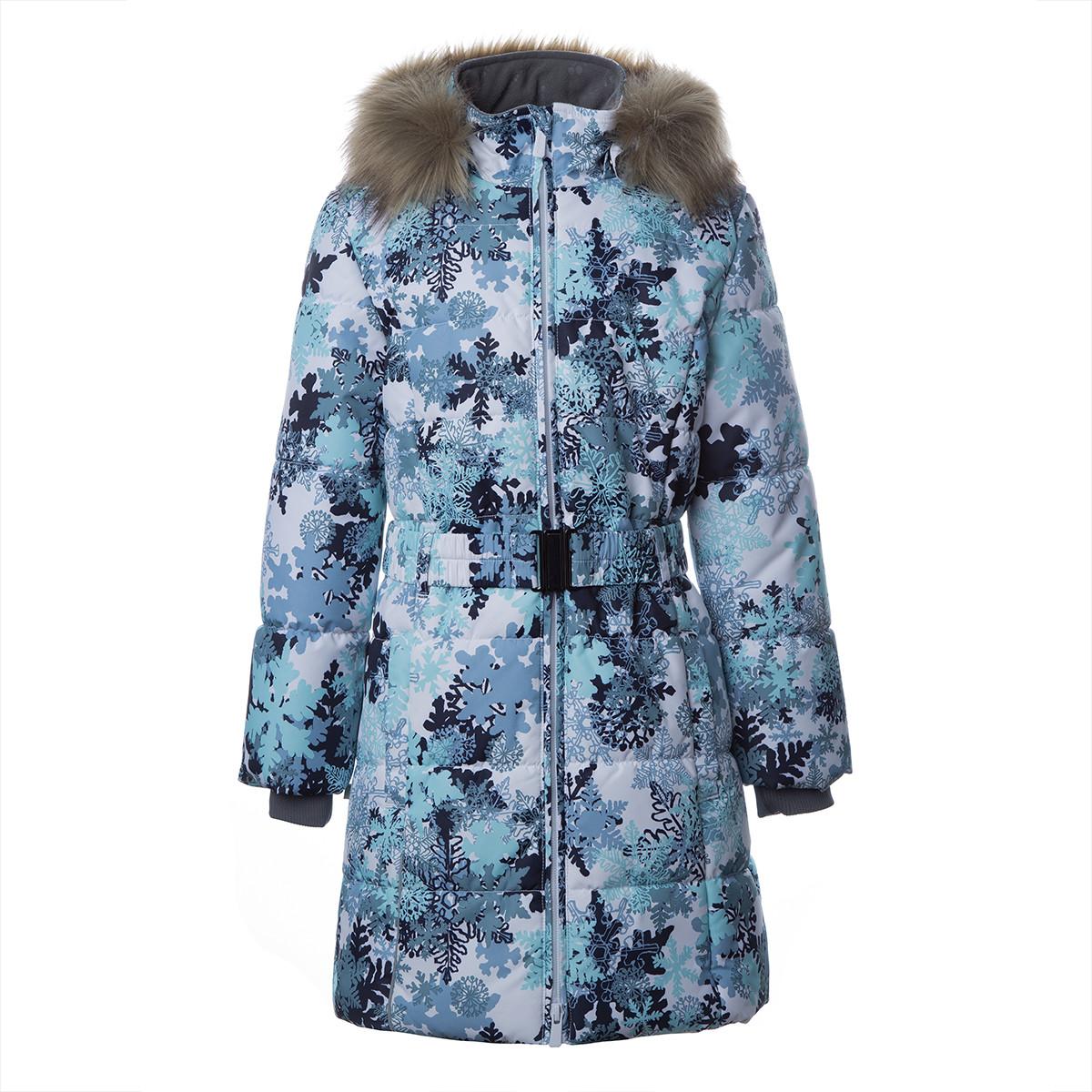 Пальто для девочек Huppa YACARANDA,  белый с принтом - 110