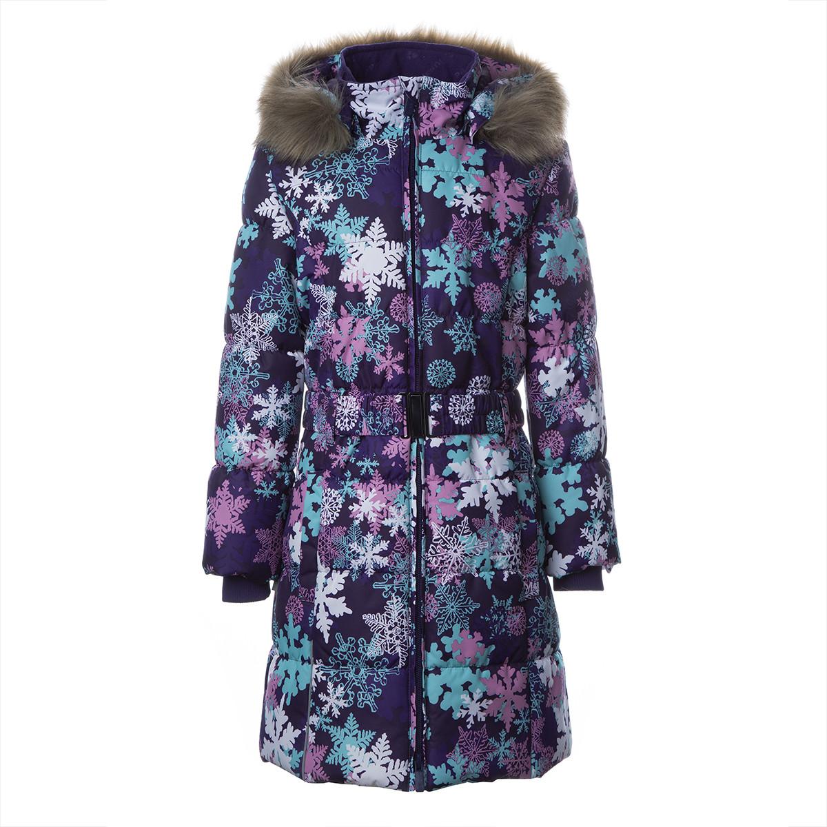 Пальто для девочек Huppa YACARANDA, лилoвый с принтом