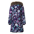 Пальто для девочек Huppa YACARANDA, лилoвый с принтом, фото 4