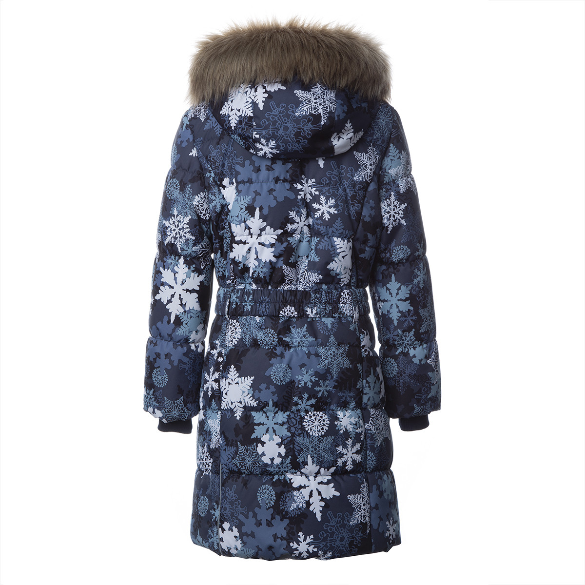Пальто для девочек Huppa YACARANDA, тёмно-синий с принтом -116 - фото 2