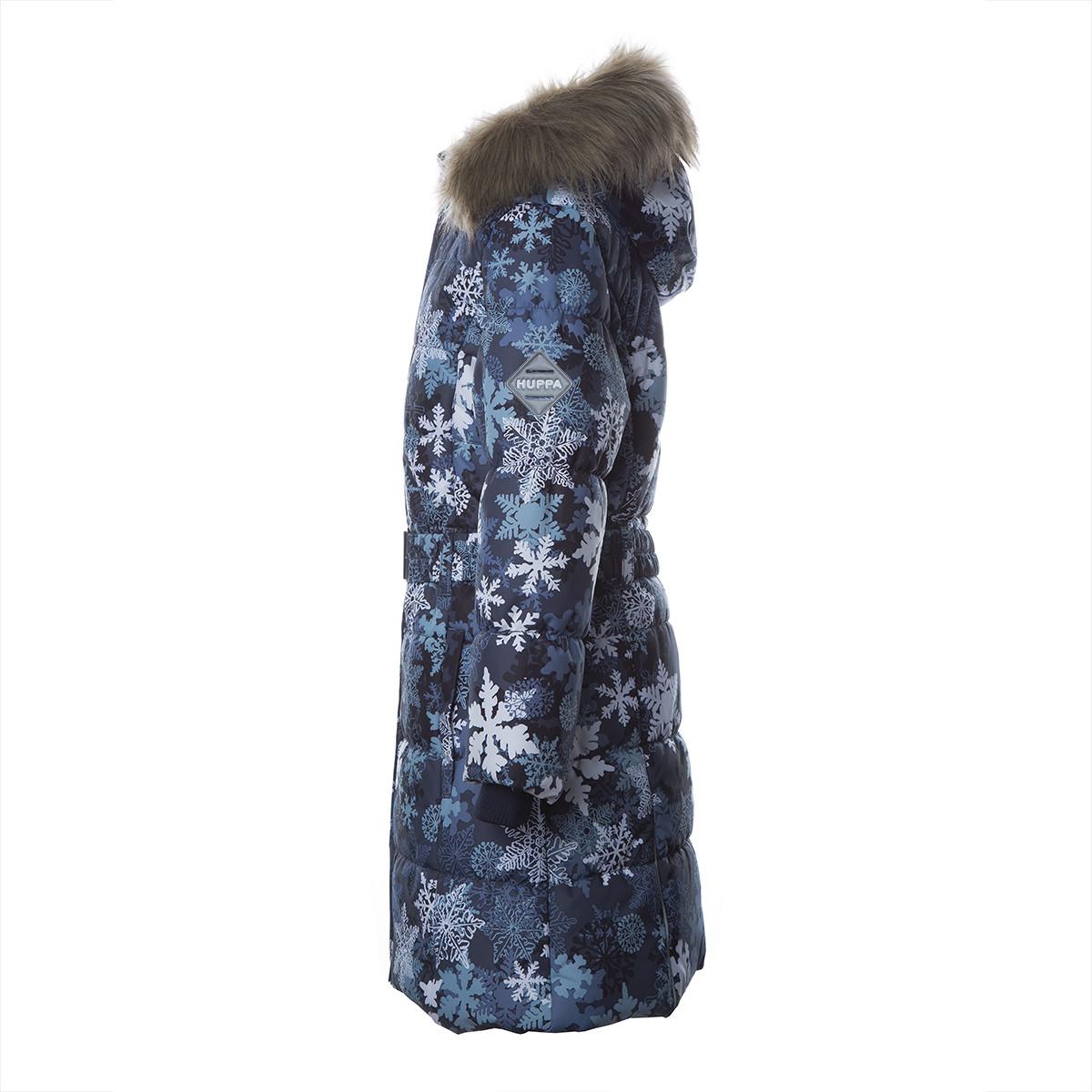 Пальто для девочек Huppa YACARANDA, тёмно-синий с принтом -116 - фото 3