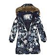 Пальто для девочек Huppa YACARANDA, тёмно-синий с принтом, фото 4