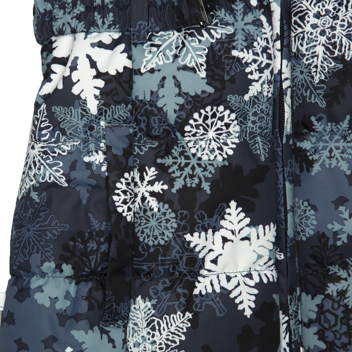 Пальто для девочек Huppa YACARANDA, тёмно-синий с принтом -116 - фото 5