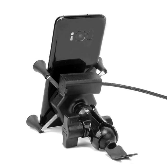 держатель телефона для мотоцикла самоката скутера с usb-портом для зарядки,