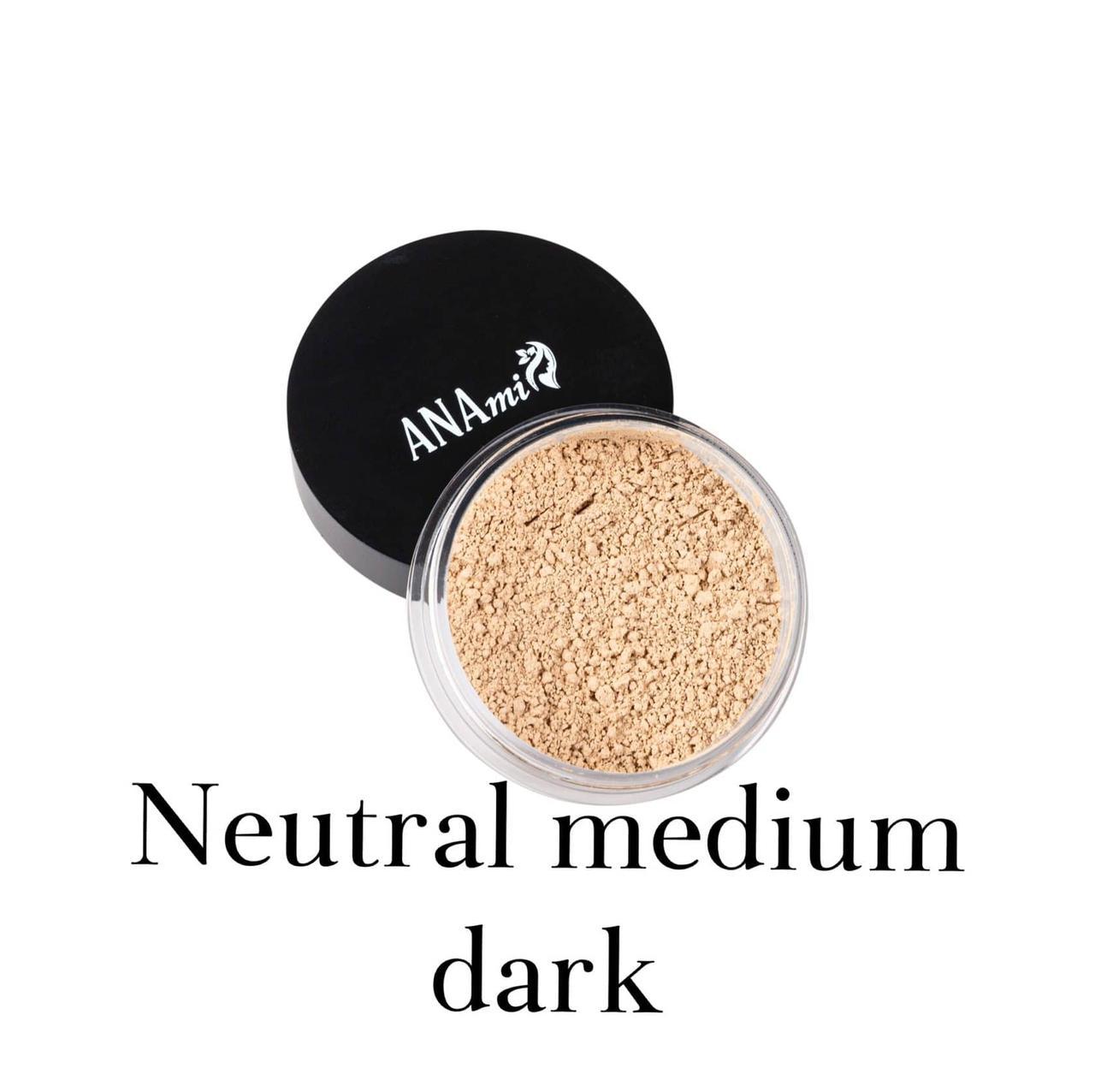Минеральная пудра Anami. Neutral Medium Dark