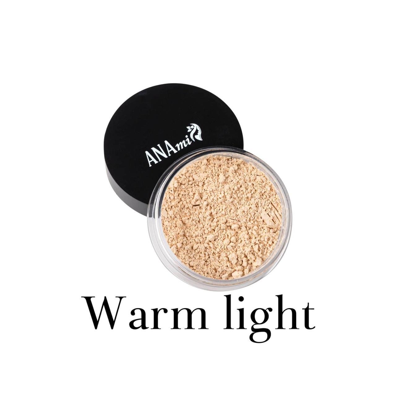 Минеральная пудра Anami. Warm light