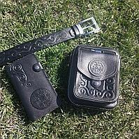 Мужской подарочный набор Барсетка +ремень +портмоне