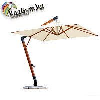 Зонт Wood Lux, 3х3м, квадратный, бежевый, фото 1