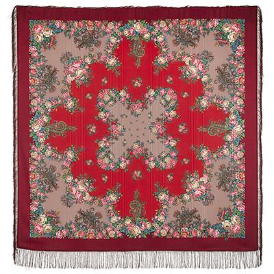 Павлопосадский платок Спящая красавица 1548-5 (146х146 см)