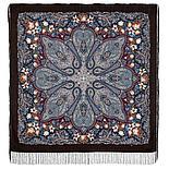 Павлопосадский платок Цветочный калейдоскоп 1789-9 (146х146 см), фото 3