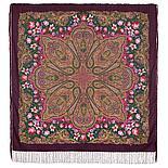 Павлопосадский платок Цветочный калейдоскоп 1789-9 (146х146 см), фото 5