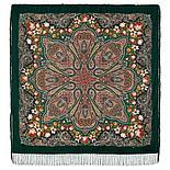 Павлопосадский платок Цветочный калейдоскоп 1789-9 (146х146 см), фото 7