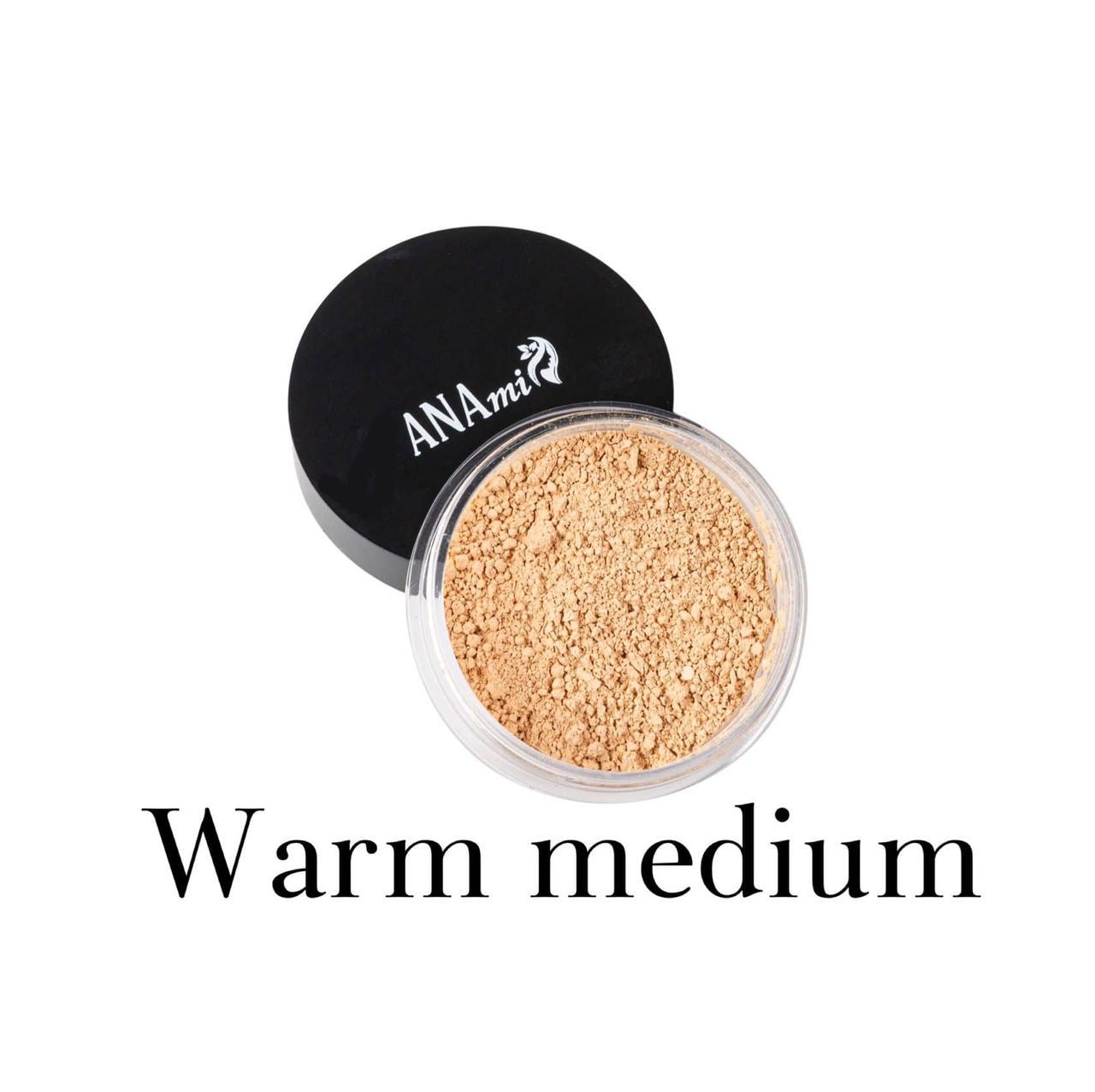 Минеральная пудра Anami. Warm medium