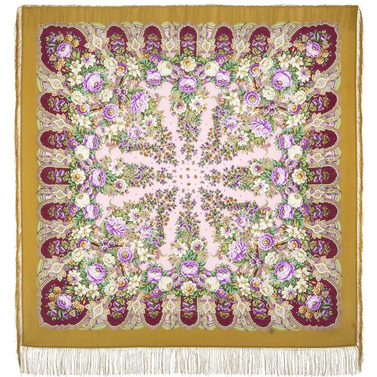 Павлопосадский платок Лукоморье 1555-7 (146х146 см)