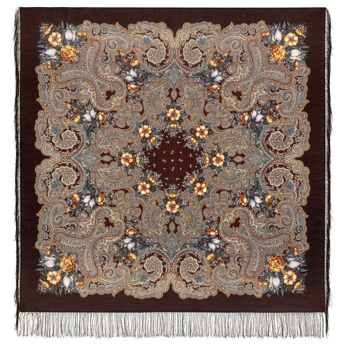 Павлопосадский платок Летнее чудо 1885-5 (146х146 см)