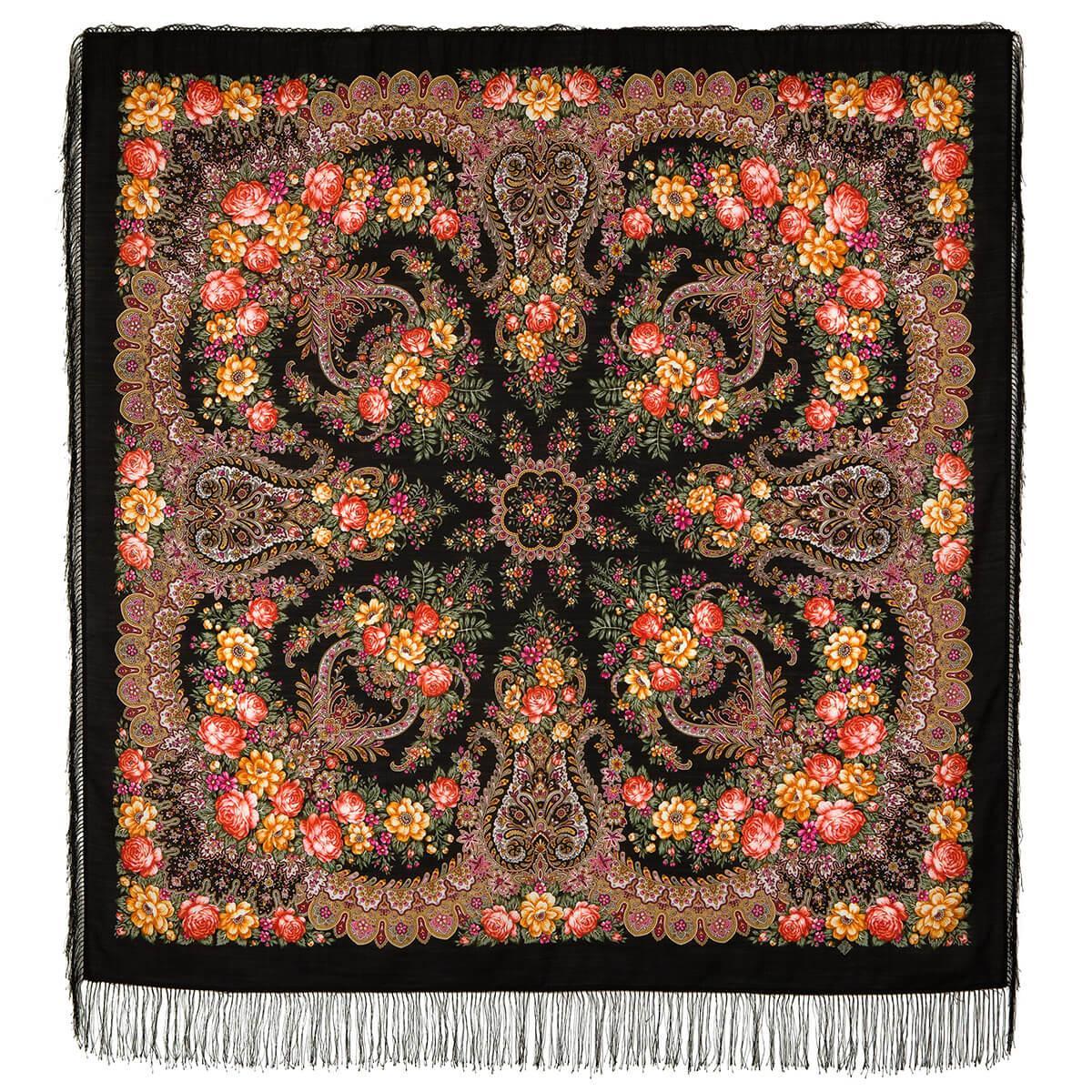 Павлопосадский платок Ладога 1727-18 (146х146 см)