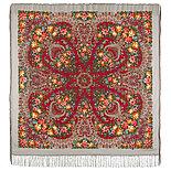 Павлопосадский платок Ладога 1727-18 (146х146 см), фото 3