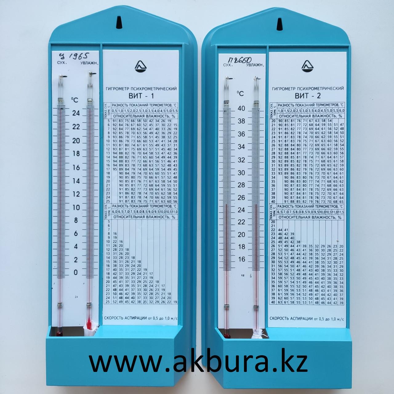 ВИТ-1 и ВИТ-2 Психрометрические гигрометры. Бесплатная доставка по РК. Оптом дешевле.