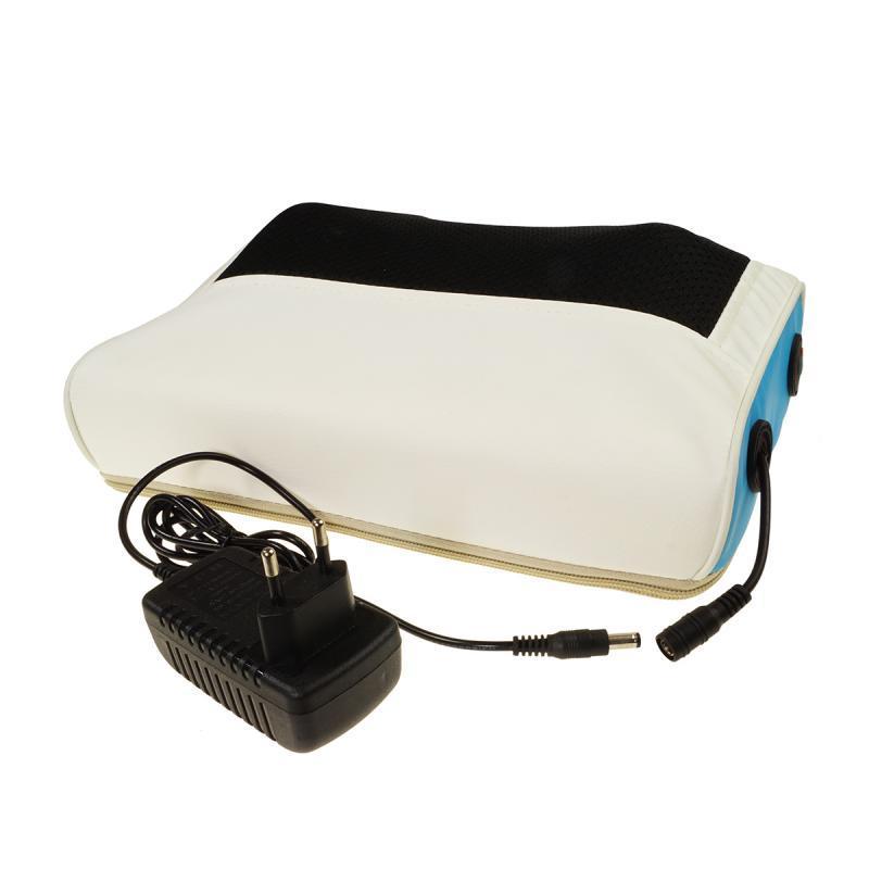 Роликовая массажная подушка для спины и шеи