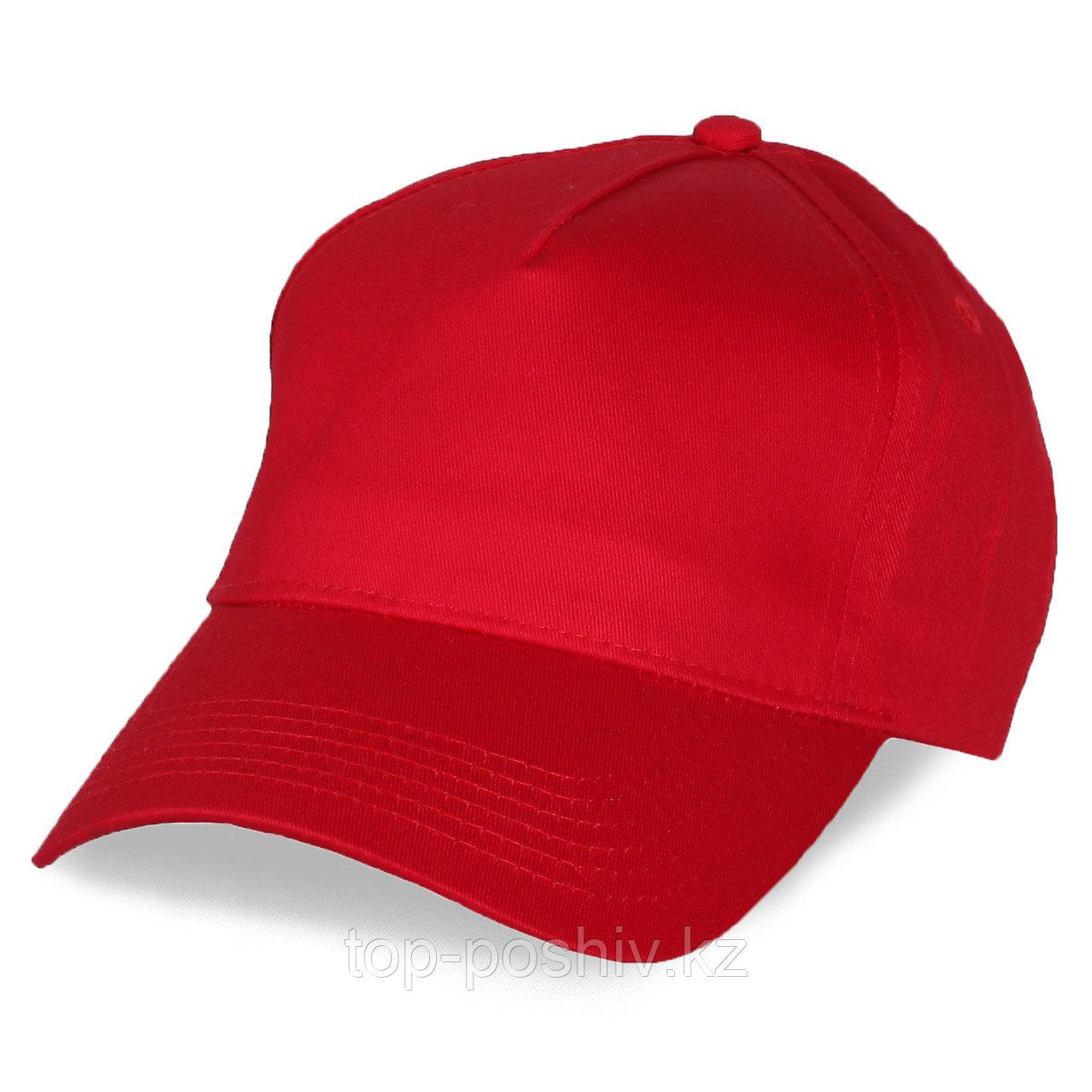 Бейсболка - 100% Х/Б, цвет красный