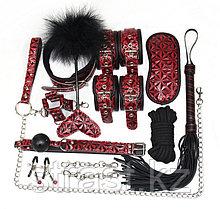 Стильный красно-черный набор БДСМ