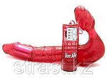 Безремневой страпон с вибрацией ToyJoy Bend Over Boyfriend Red 20 см, красный (только доставка)