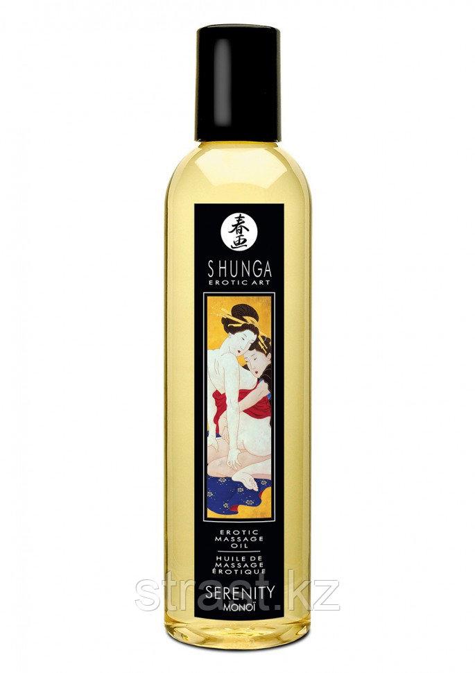 Натуральное массажное масло Massage Oil Monoi - Shunga (только доставка)