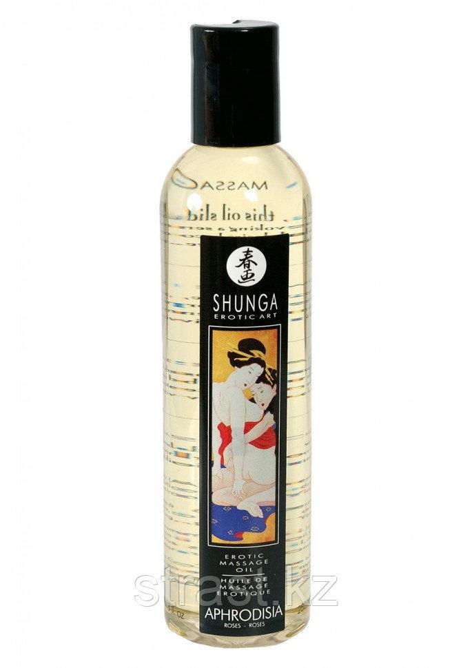 Массажное масло с ароматом розы Shunga Aphrodisia, 250 мл (только доставка)