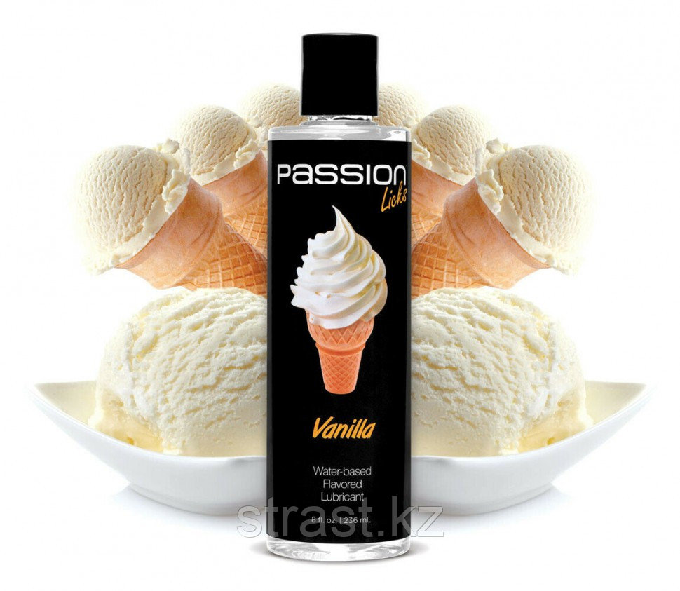 Passion Licks Water Based Flavored Lubricant, вкусный лубрикант, 236 мл.(только доставка)