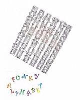 Пластиковая вырубка Английский алфавит