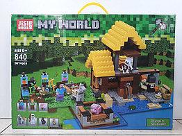 Конструктор Jisi Bricks My world 840 561 pcs. Minecraft. Майнкрафт