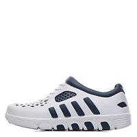 Коралловые кроссовки бело-т.синие