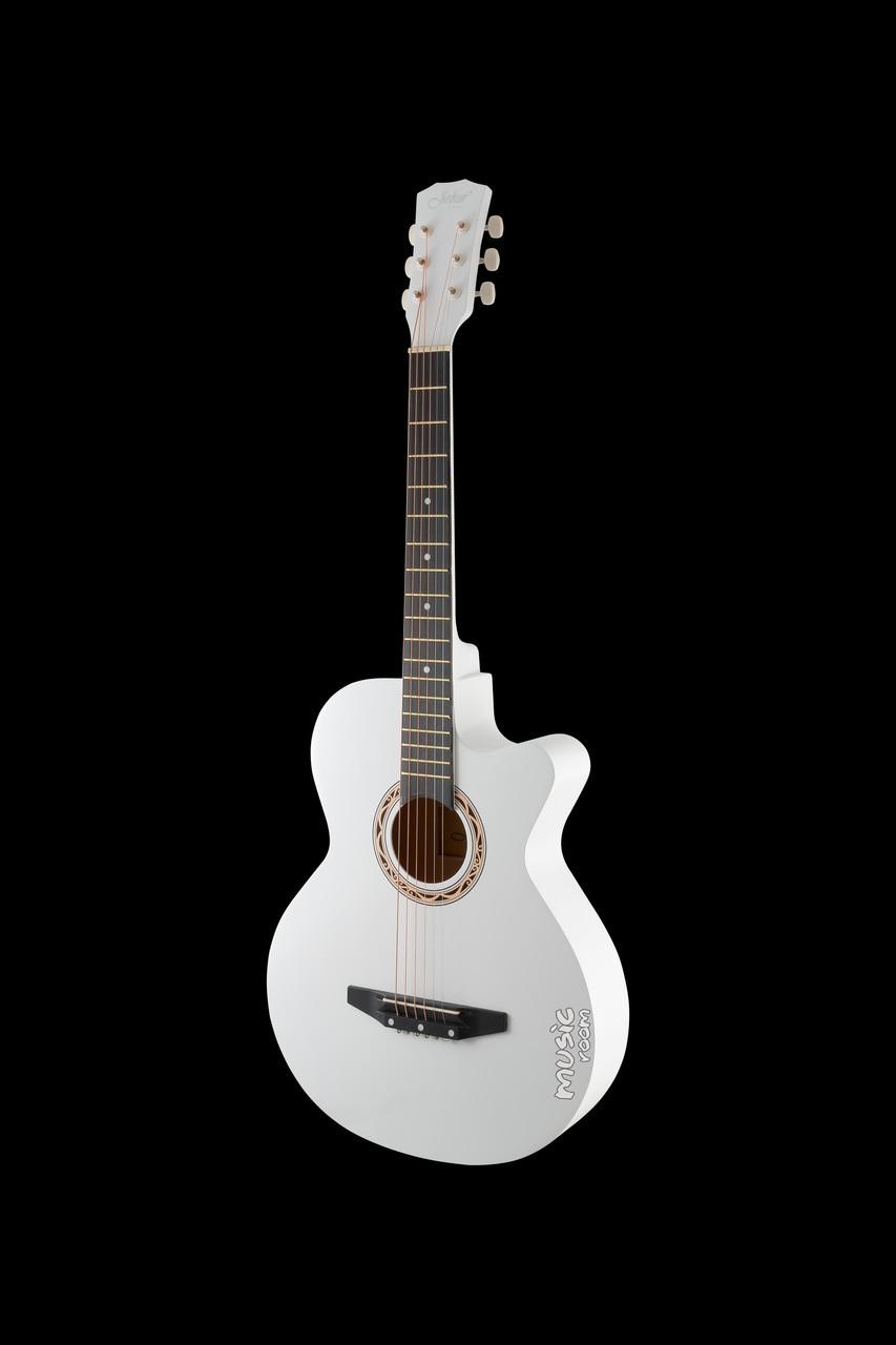 Гитара акустическая с вырезом Joker 38C-10T WH
