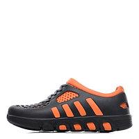 Коралловые кроссовки чёрно-оранжевые