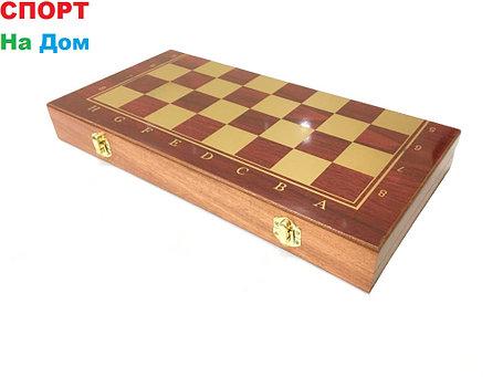 Нарды, шашки, шахматы набор 3 в 1 (размеры: 35*35*2,5 см), фото 2