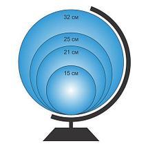 Глобус с подсветкой от сети Globen «Классик Евро» {физический, политический, рельефный} (физический рельефный, фото 2