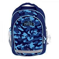 Рюкзак школьный с эргономичной спинкой, Calligrata, 37 х 27 х 16, «Милитари», синий