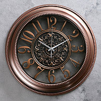 """Часы настенные, серия: Интерьер, """"Сантана"""", бронзовые, d=36 см"""