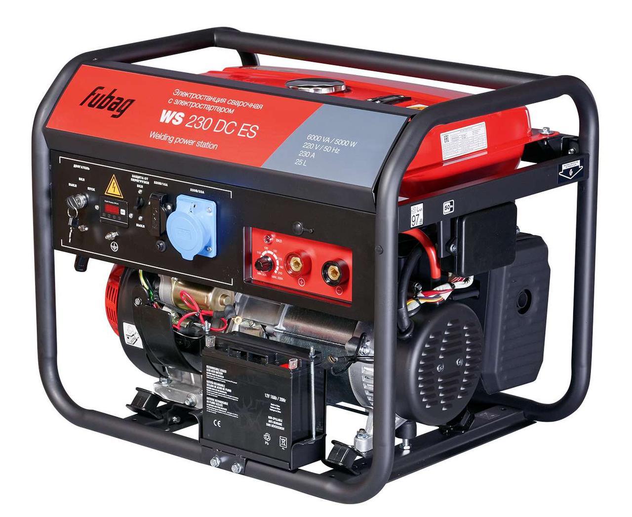 Генератор сварочный Fubag WS 230 DC ES бензиновый с электростартером