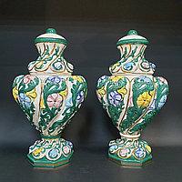 Пара ваз в стиле Capodimonte Италия. II половина XX века