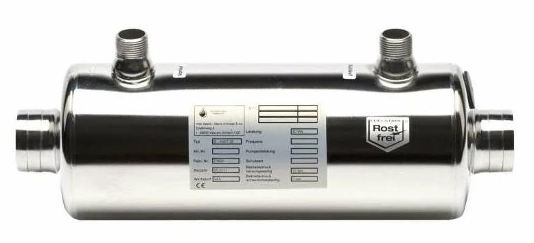 Водонагреватели для бассейнов металлические
