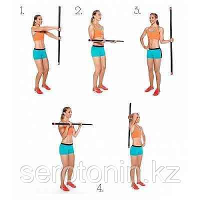 Бодибар фитнес - гимнастическая палка 4кг - фото 4