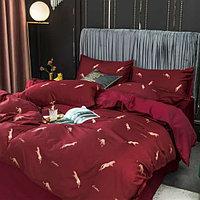 Комплект постельного белья полуторный VIP Cotton из египетского хлопка с животным принтом