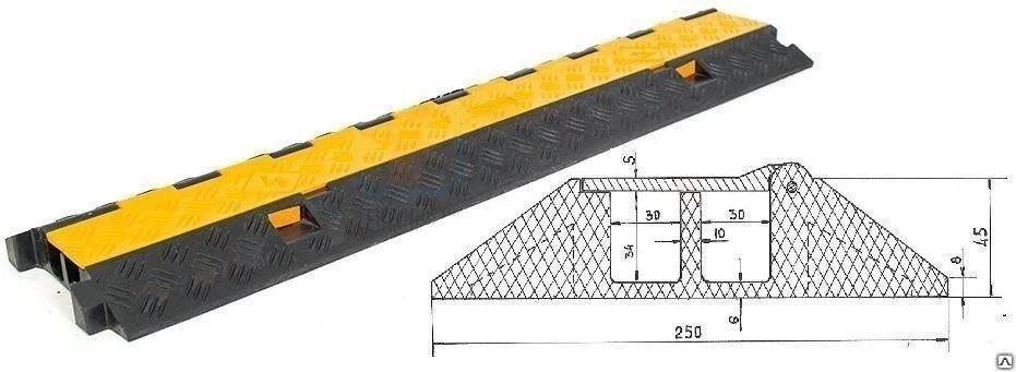 Кабель-канал Резина (2 канала 35х35 мм)