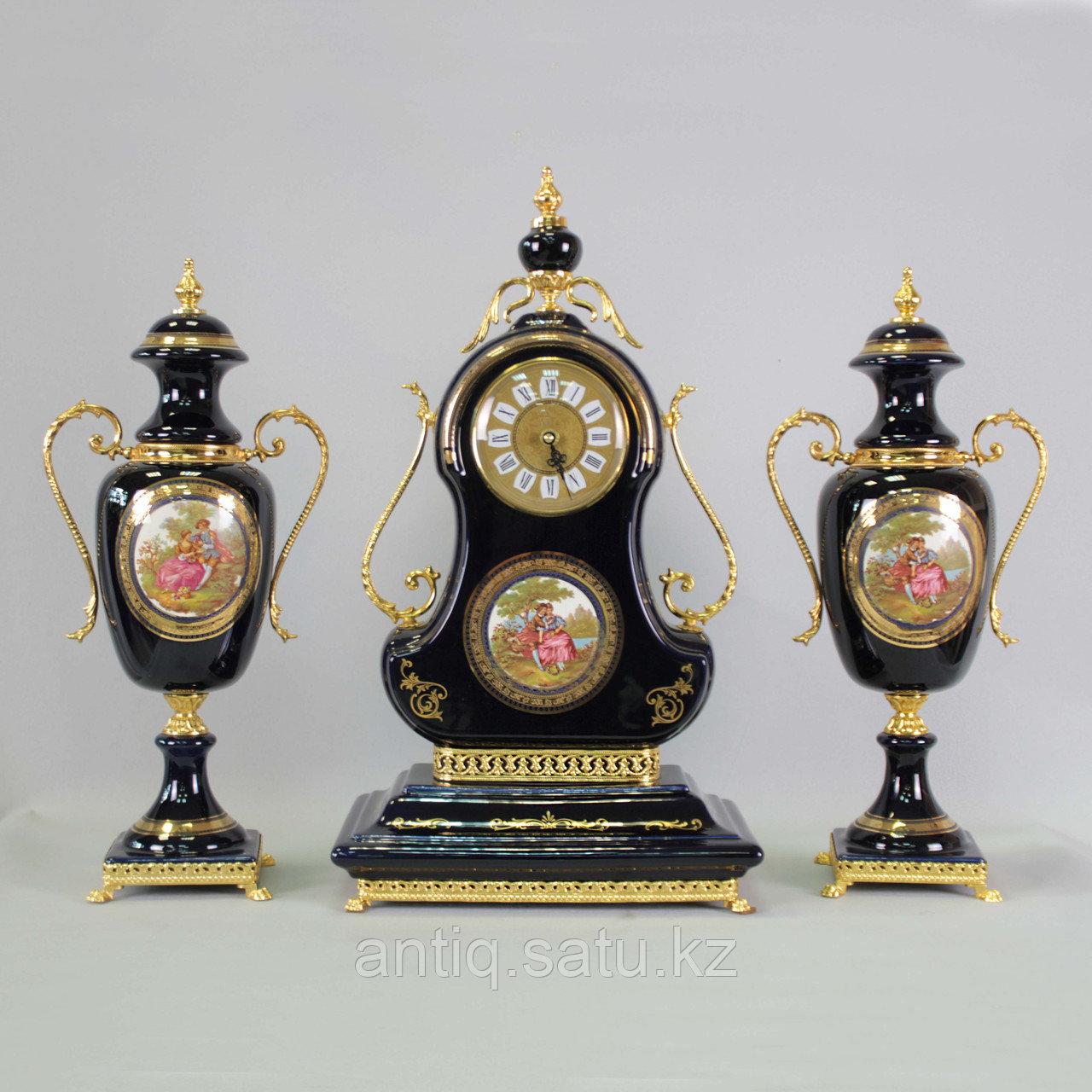 Каминный гарнитур с вазами. Фарфоровая мануфактура Limoges - фото 1