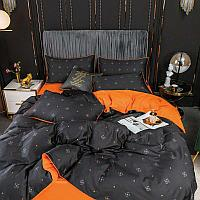 Комплект постельного белья полуторное из египетского хлопка Vip Cotton с мелким квадратом